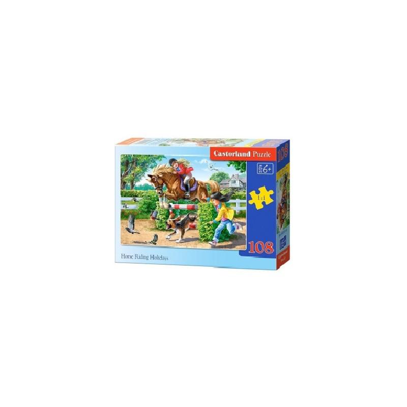 Castorland Puzzle Dovolenka na koni, 108 dielikov