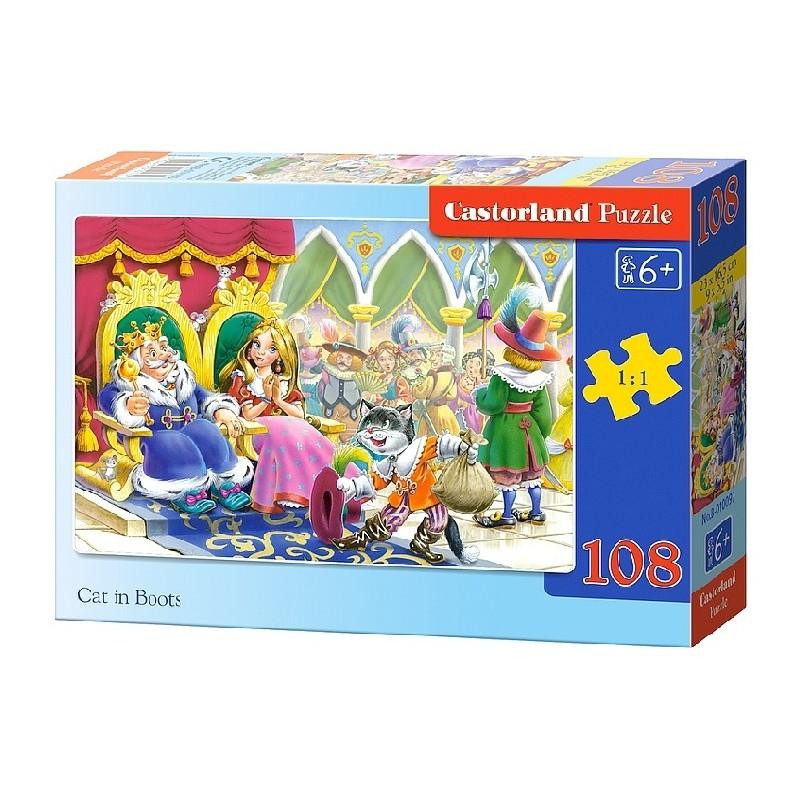 Castorland Puzzle Kocúr v čižmách, 108 dielikov