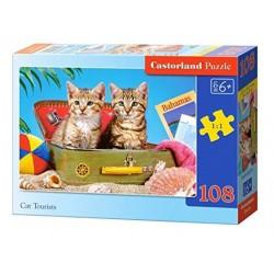 Castorland Puzzle Mačky turistky, 108 dielikov