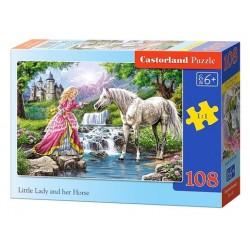 Castorland Puzzle Malá slečna kôň, 108 dielikov