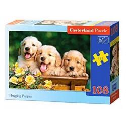 Castorland Puzzle Maznavé šteniatka, 108 dielikov