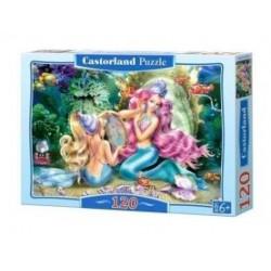 Castorland Puzzle Morské panny a perly, 120 dielikov