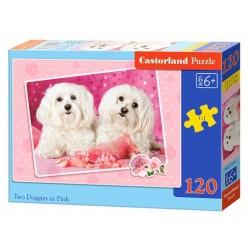 Castorland Puzzle Psíky v ružovom, 120 dielikov