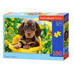 Castorland Puzzle Šteniatko v žltom, 180 dielikov