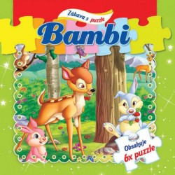 Puzzle kniha - Bambi