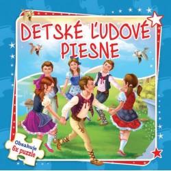 Puzzle kniha - Detské ľudové piesne