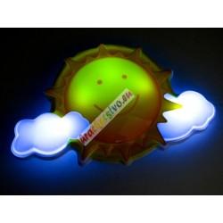 Nočná lampa Slniečko/Raketa s diaľkovým ovládaním a jemnými zvukmi