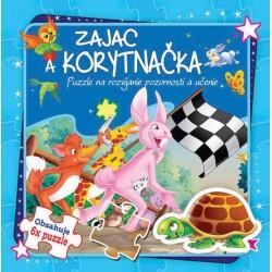 Puzzle kniha - Zajac a korytnačka