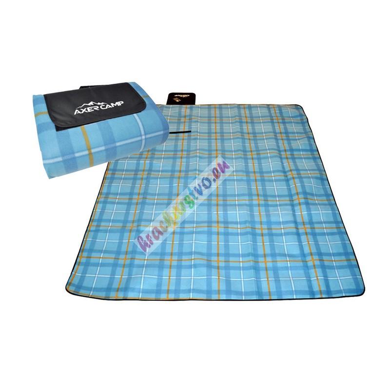 Turistická deka s ALU fóliou, 210 x 180 cm, modrá