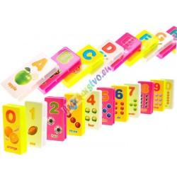Farebné Domino skladačky + nálepky
