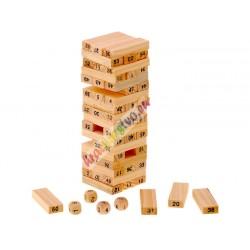Hra Veža Jenga drevená, 19 cm