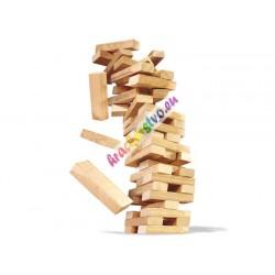 Hra Veža Jenga drevená, 23 cm