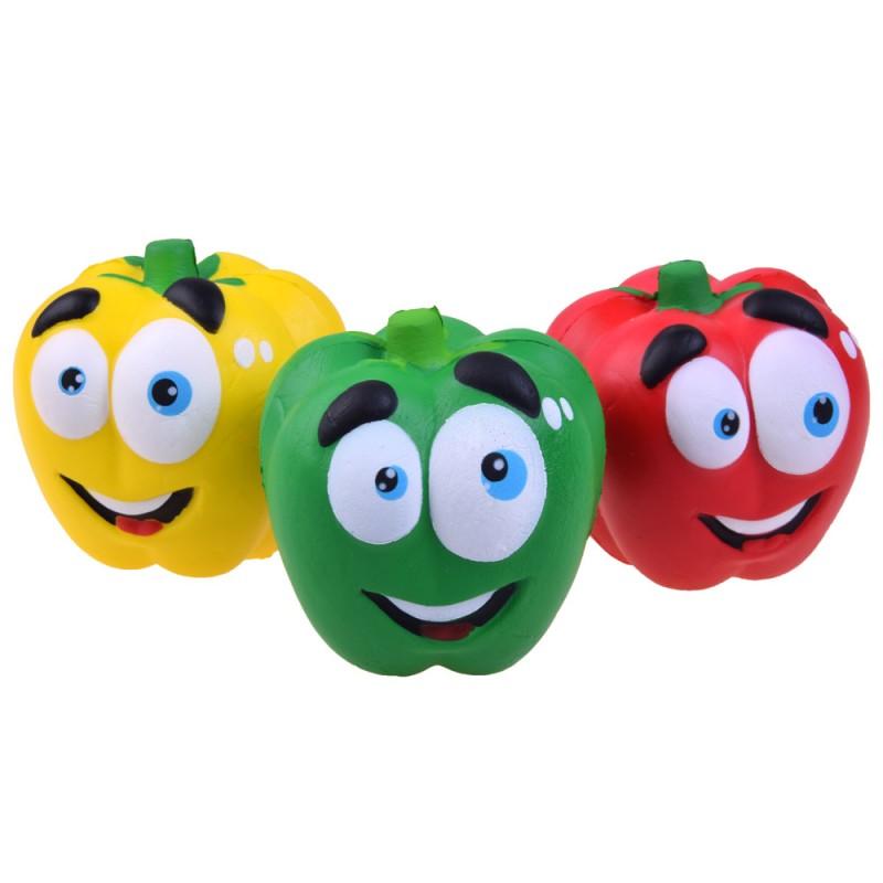 SQUISHY - Antistresová penová hračka Paprika, 3 farby
