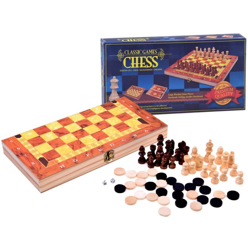 Set hier 3v1: Šach, Dáma, Backgammon