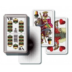 Mariáš - hracie karty v plastovej krabičke