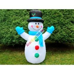 Nafukovací svietiaci snehuliak 120cm