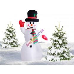 Nafukovací svietiaci snehuliak, 240cm
