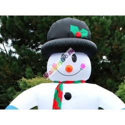 Nafukovací svietiaci snehuliak, 350cm