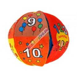 Mäkká hovoriaca dvojfarebná lopta, 12m+