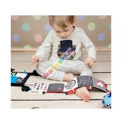 Hencz toys: mäkká kniha pre bábätko 3 farby, 0+