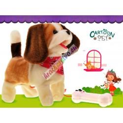 Chodiaci psík na vodítku - šteká, 23 cm, 4 farby