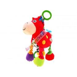 Závesné plyšové zvieratko s hudbou, 4 druhy, 0+