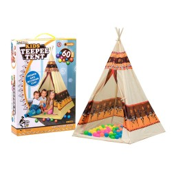 Detský indiánsky stan – Vigvam + 60 loptičiek
