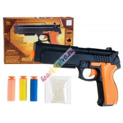 Krátka pištoľ na penové náboje a gélové guličky