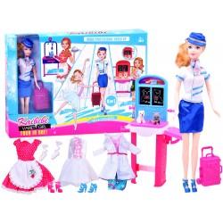 Kaibibi – Pracujúca bábika Barbie + 4 druhy oblečenia