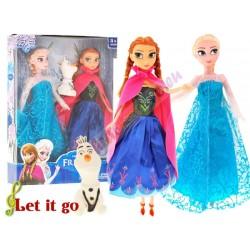Freeze, spievajúca Anna a Elsa + Olaf