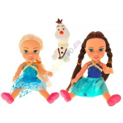 Frozen Anna a Elsa + Olaf, 16 cm