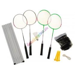 HUDORA Badminton set, 4 rakety + sieť + košíky
