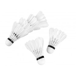 Hudora Badmintonové košíky 6v1, perové + korková hlavička