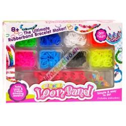 Loom Bands gumičky 650 + krosná + koráliky