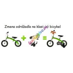"""Klasický bicykel/odrážadlo 12"""" , Pony 6v1 + maskot , červený"""