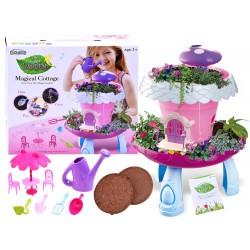Magický domček pre rastliny s kvetináčom