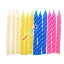 Narodeninové tortové sviečky 12ks