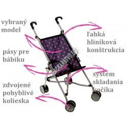 Vychádzkový kočík pre bábiky, 5 druhov