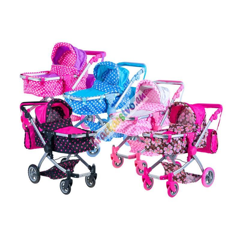 Multifunkčný kočík pre bábiku 2 v 1 (klasicky/športový)  5 nových prevedení