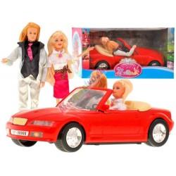 Autíčko pre dievčatá – kabriolet + 2 bábiky
