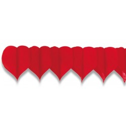 Girlanda papierová, Srdce 4m (19cm)
