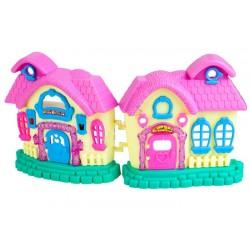 Domček pre bábiky s figúrkami a vybavením