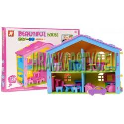Penový domček pre bábiky + auto