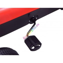 Šlapacia Motokára 94 cm, EVA kolesá, ručná brzda, kovová konštrukcia, 2 farby