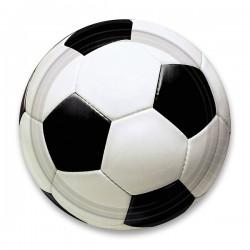 Papierové tanieriky Futbal, priemer 23cm, 8ks