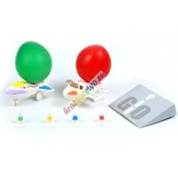 Experimentálna sada - Urob si: Lietadlo poháňané balónom, 2ks