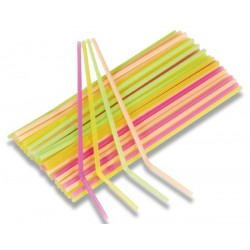 Flexibilné slamky neón, 40ks