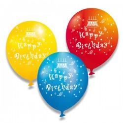 Nafukovacie balóniky Happy Birthday, 6 ks