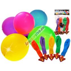 Farebné svietiace LED balóny, 5ks, 30cm