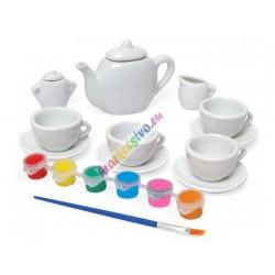 Vymaľuj si: Kreatívna keramická čajová súprava